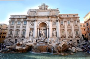 Christina Evangeline Trevi Fountain Italy